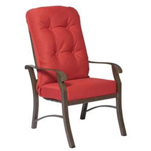 woodard cortland lounge high back chair replacement cushion
