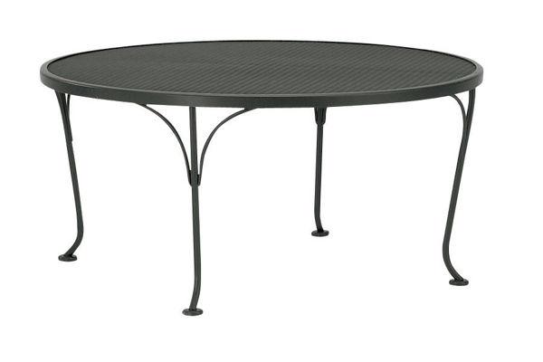 woodard mesh wrought iron 36 round coffee table