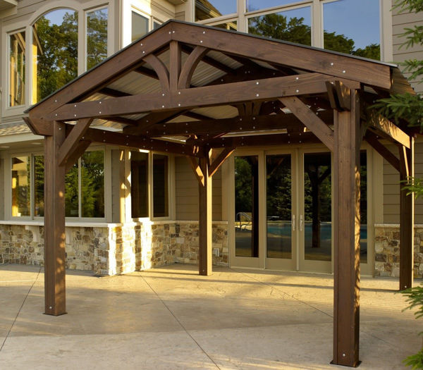 outdoor great room metal roof for lodge ii forest green