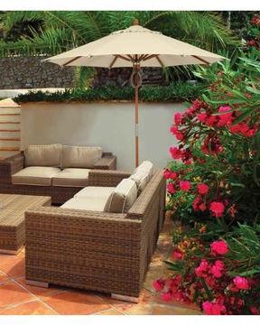 patio store wood pole patio umbrellas