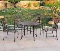 Five-piece Wrought Iron Patio Set - Patio Table