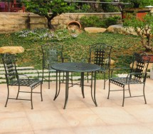 Five-piece Wrought Iron Patio Set - Table
