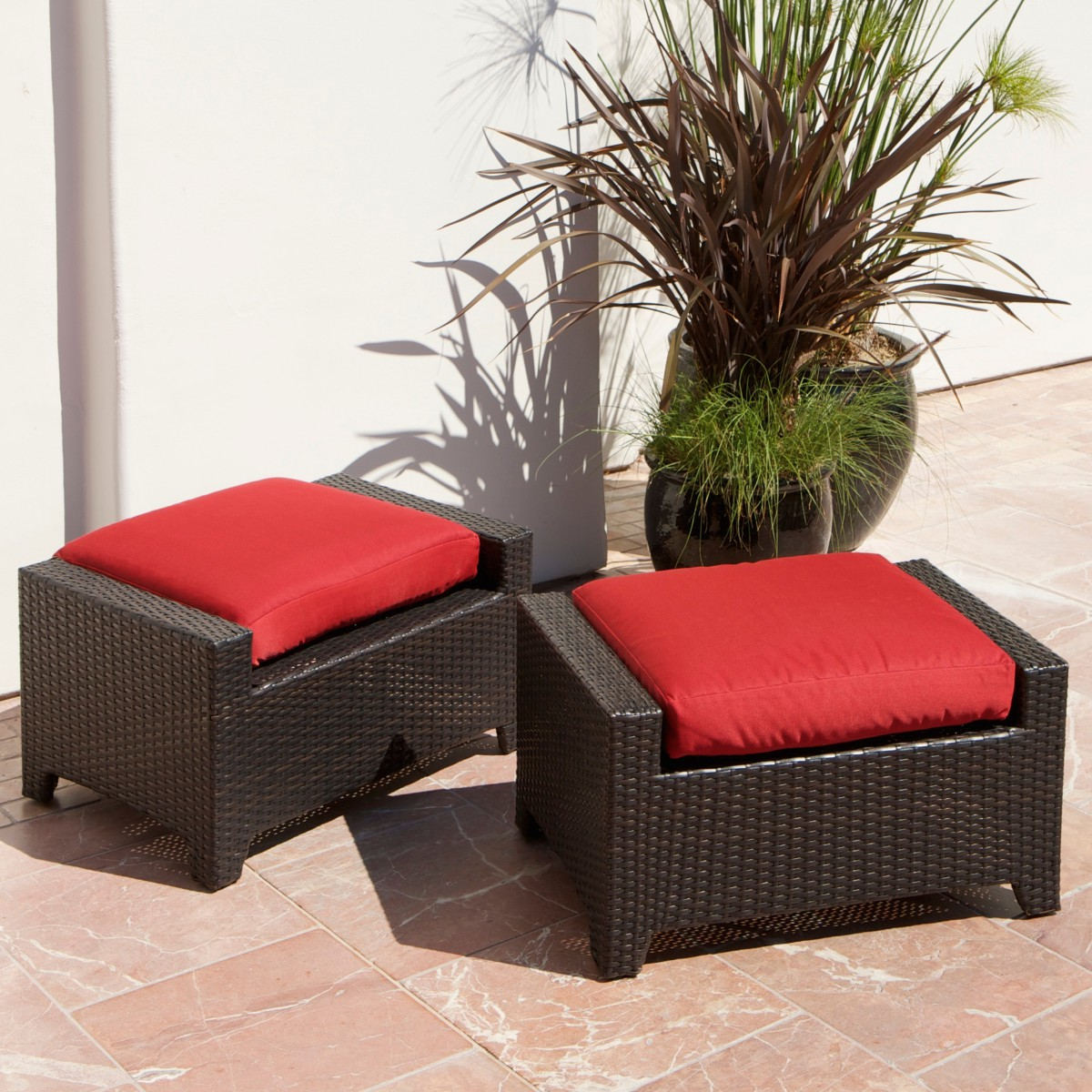 Cantina 7 Piece Sofa Seating Set With Chairs Ottomans