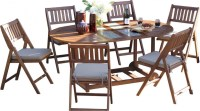 Outdoor Interiors 7-piece Folding Patio Set - Patio Table