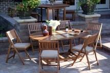 Outdoor Interiors 7-piece Folding Patio Set - Table