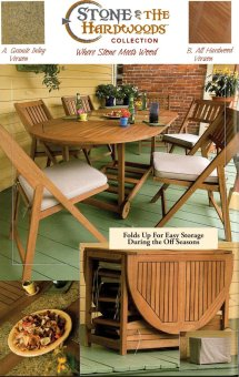 Outdoor Interiors 7-piece Folding Patio Set - Table