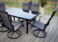 7 Piece Patio Dining Set With Swivel Chairs. MiYu ...