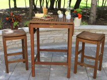 Outdoor Interiors 2-4-6 Folding Pub Table - Patio