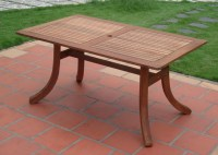 Vifah Atlantic Outdoor Rectangular Patio Table - Patio Table