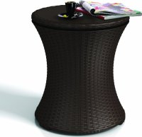 Keter Rattan Cool Bar Outdoor Patio Cooler Table - Patio Table
