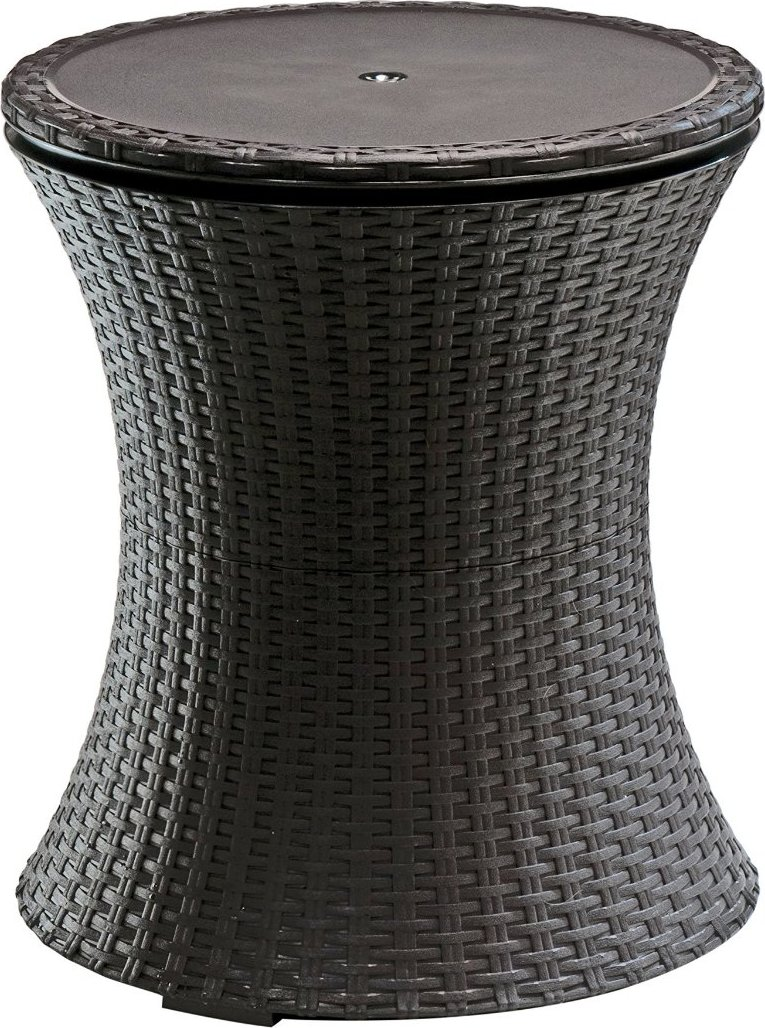 Keter Rattan Cool Bar Outdoor Patio Cooler Table  Patio Table