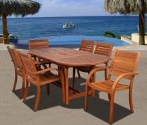 arizona 7 piece wood outdoor