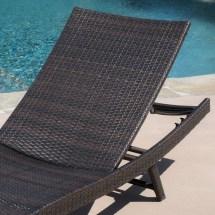 Eliana 2pc Ergonomic Wicker Outdoor Chaise Lounge Chairs
