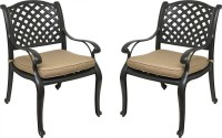 Nevada Cast Aluminum Outdoor Patio Dining Chairs with ...