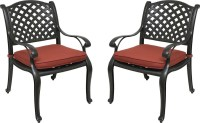 darlee elisabeth cast aluminum patio reclining club chair ...