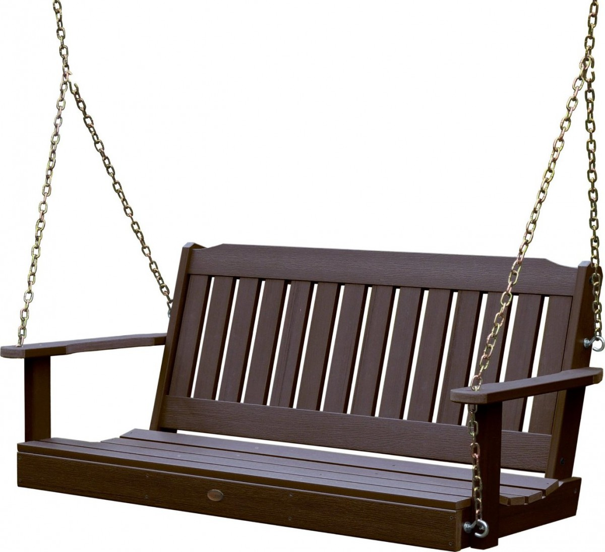 hanging chair amazon side chairs highwood outdoor synthetic / plastic wood porch swing set