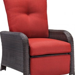 Wicker Reclining Patio Chair French Cross Back Dining Hanover Strathmere Luxury Outdoor Recliner