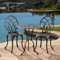 Charleston Aluminum Bronze Bistro Set - Patio Table