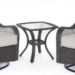 Amazon Outdoor Chair Cushions Papasan Pier 1 Hanover Orleans 3 Piece Bistro Set With Swivel Glider Chairs
