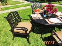 Coastlink Furniture Nevada 5 Piece Cast Aluminum Outdoor