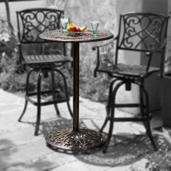 Outdoor Bistro Table And Chairs Set Diy Wood Chair Makeover Paris Cast Aluminum Bar Height Patio