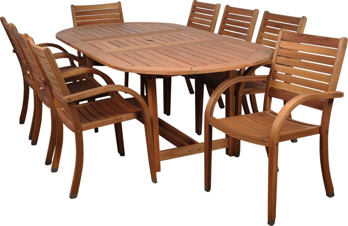 dining set with 8 chairs wheelchair basketball rules amazonia arizona 9 piece wood outdoor 93