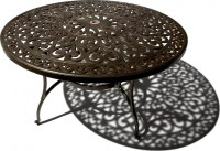 Strathwood St. Thomas Cast Aluminum Round Dining Table ...