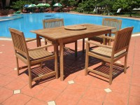 Pebble Lane Living 7 Piece Teak Patio Dining Set - Patio Table