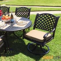 Coastlink Furniture Nevada 7 Piece Cast Aluminum Outdoor