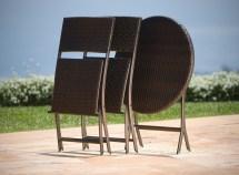 Cantina Bistro 3-piece Folding Dining Set - Patio Table
