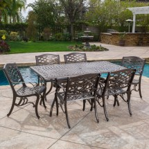 Cast Aluminum Outdoor Patio 7 Piece Dining Set