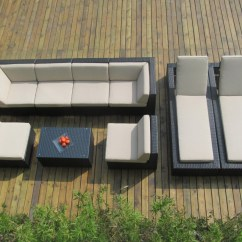 Black Aluminum Outdoor Sofa Rh Belgian Track Arm Slipcovered Ohana Collection Sectional Chaise Lounge Set