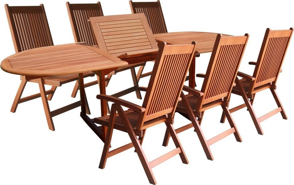 vifah v144set1 wood 7 piece patio