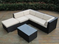 Ohana Collection 6pc Sunbrella Outdoor Sectional Sofa Set