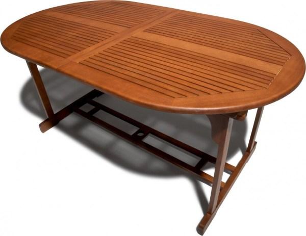 Strathwood Sheffield Hardwood Oval Expandable Table - Patio