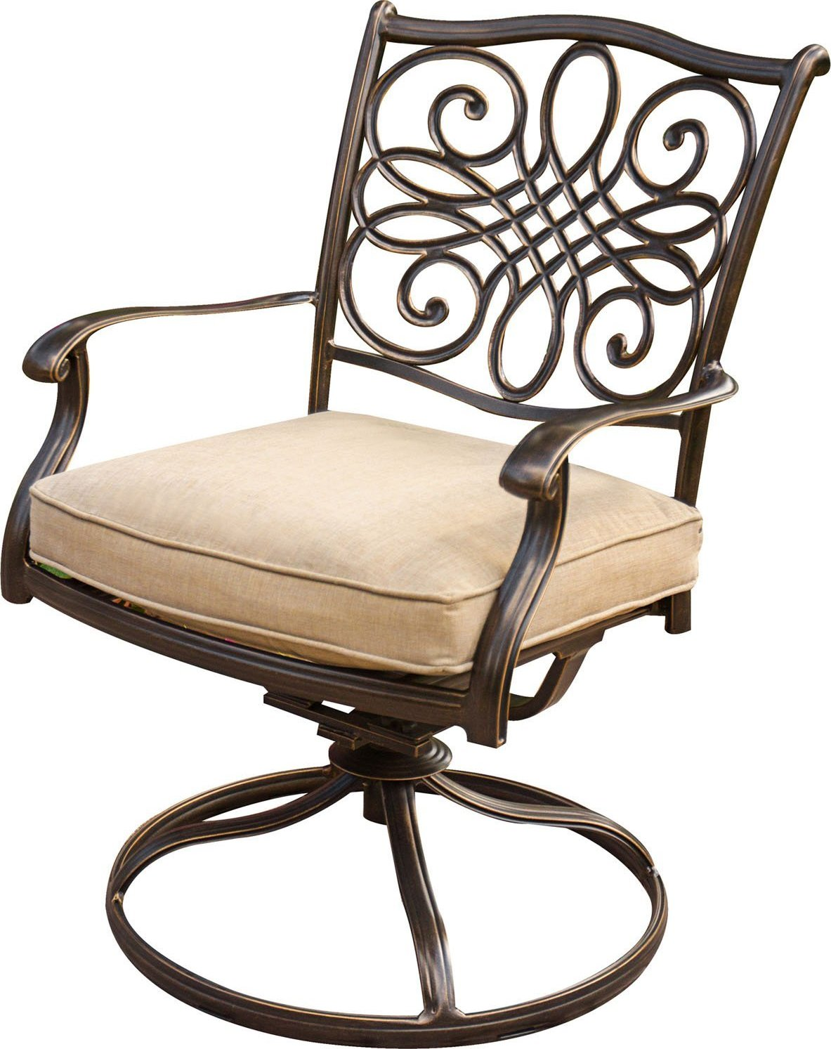 swivel rocker outdoor dining chairs oval back room hanover traditions 3-piece bistro set with cushioned - patio table