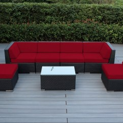 Black Aluminum Outdoor Sofa What Is The Difference Between A Couch And Ohana Collection 7pc Sunbrella Sectional Set