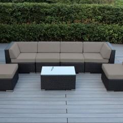 Sunbrella Fabric Sectional Sofas Ikea Slipcovered Ohana Collection 7pc Outdoor Sofa Set