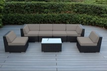 Ohana Collection 7pc Sunbrella Outdoor Sectional Sofa Set