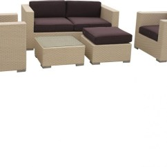 Outdoor Sofa Set Top 10 Beds Uk Malibu Collection 5 Piece Wicker Sectional