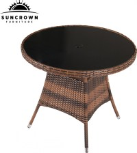 "Suncrown 5 Piece Wicker Outdoor Dining Set with 35"" Round ..."