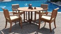 WholesaleTeak 5 Piece Teak Dining Set with 48 Inch Folding ...