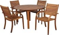 Amazonia Arizona 5 Piece Wood Outdoor Dining Set with 47 ...