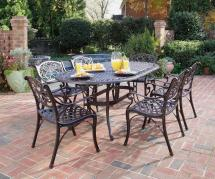 Home Styles Biscayne 7-piece Cast Aluminum Outdoor Dining