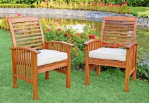 Walker Edison 6-piece Acacia Wood Patio Dining Set With