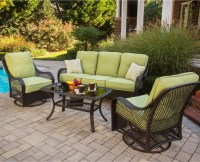 Hanover Orleans 4 Piece Outdoor Conversation Set with ...