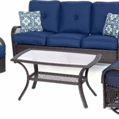 Wicker Patio Chair Set Of 2 Outside Cushions Hanover Orleans 4 Piece Outdoor Conversation With Swivel Glider Chairs