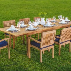 Teak Table And Chairs Garden Chair Stand Up Wholesaleteak 9 Piece Grade A Outdoor Dining Set With