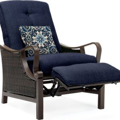 Wicker Recliner Chair Modern Black With Ottoman Hanover Ventura Luxury Resin Outdoor