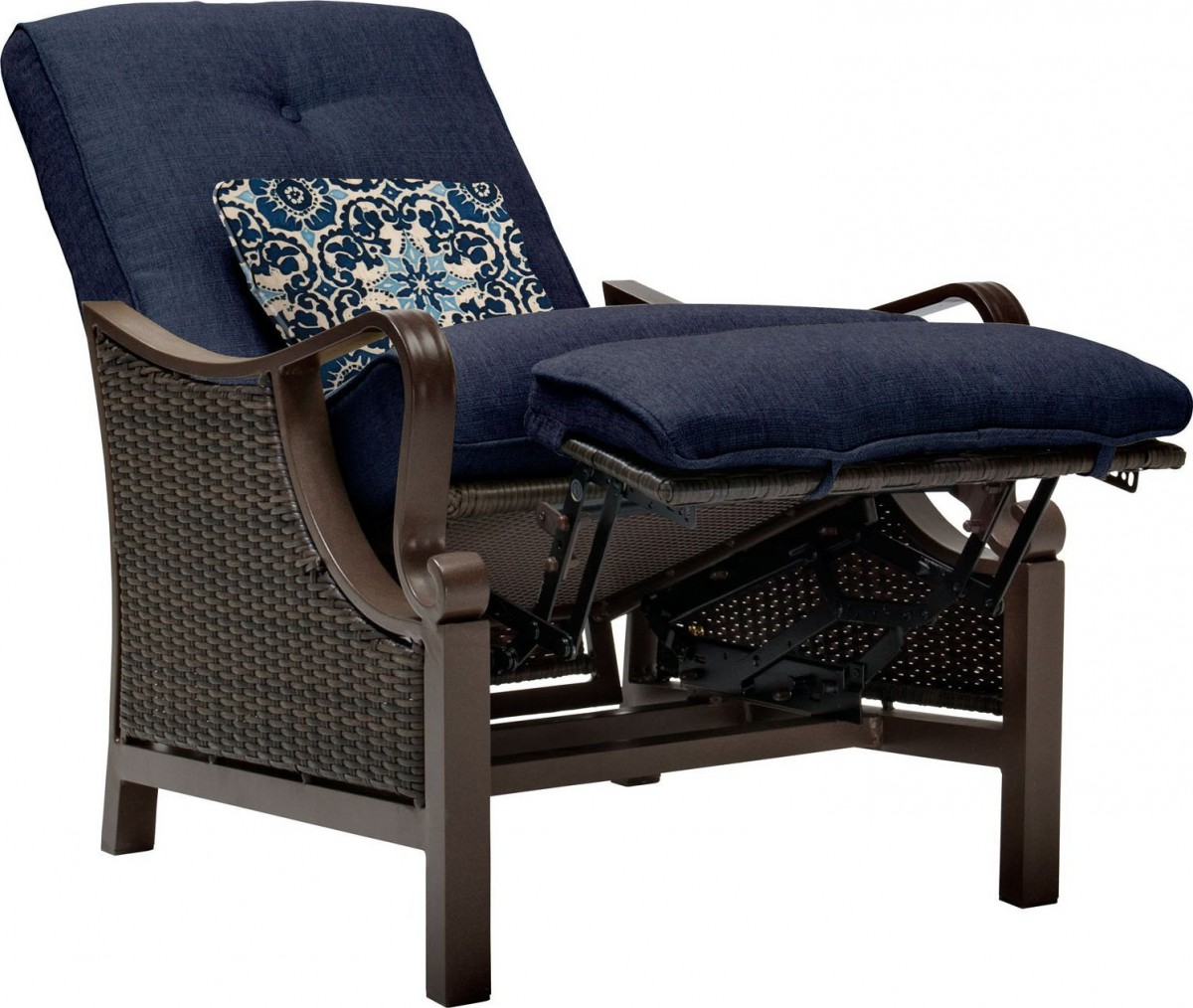 wicker recliner chair covers for sporting events hanover ventura luxury resin outdoor